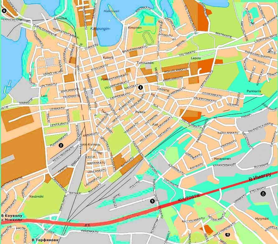Карта города Лаппеенранта